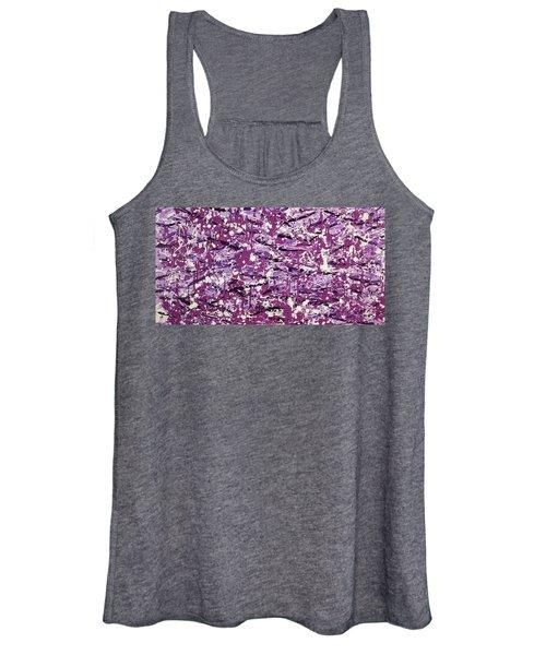 Purple Splatter Women's Tank Top