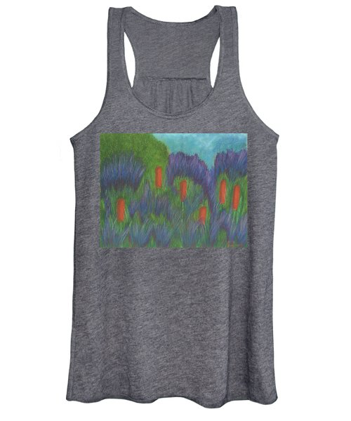 Purple Strife And Cattails Women's Tank Top