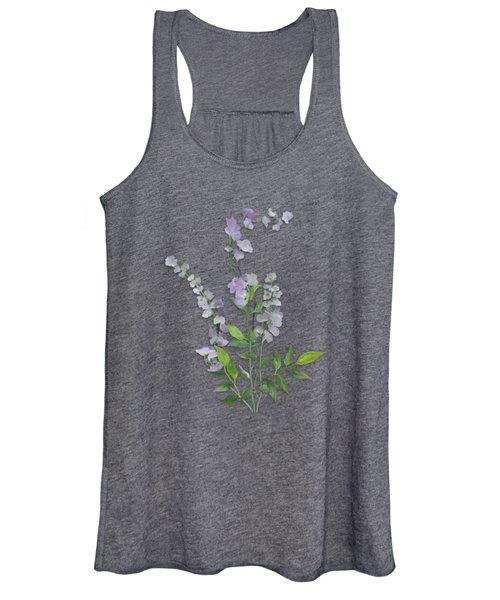 Purple Tiny Flowers Women's Tank Top