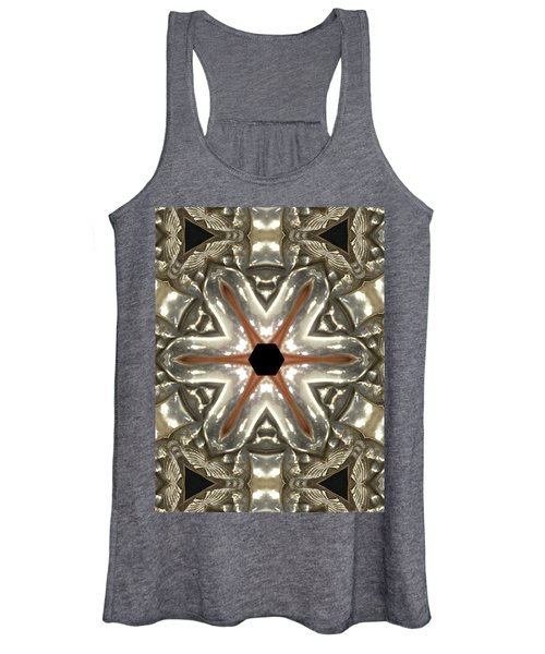 Puzzle In Taupes Women's Tank Top