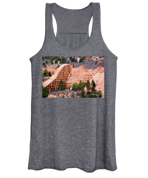 Quarry Closup At Red Rock Canyon Colorado Springs Women's Tank Top