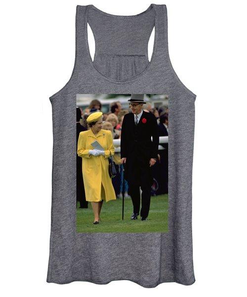 Queen Elizabeth Inspects The Horses Women's Tank Top
