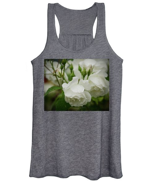 Rain Drops In Our Garden Women's Tank Top