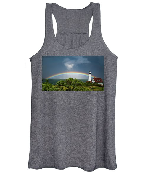 Rainbow At Portland Headlight Women's Tank Top