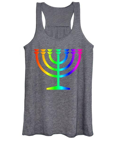 Rainbow Judaism Symbol Women's Tank Top