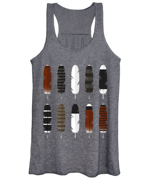 Raptor Feathers - Square Women's Tank Top