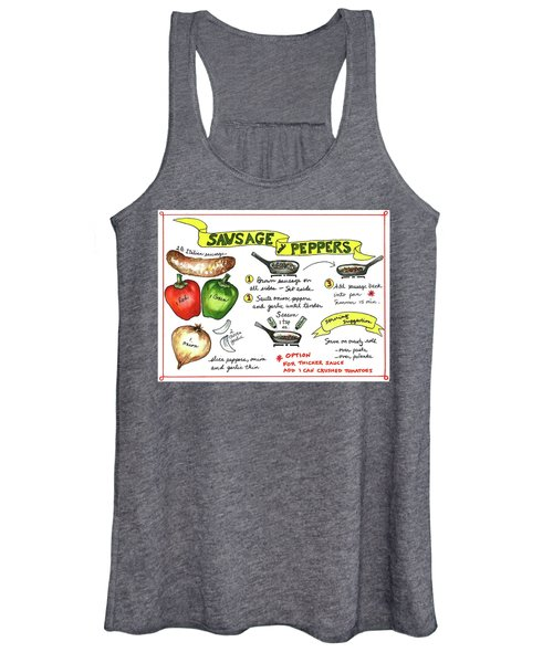 Recipe Sausage And Peppers Women's Tank Top