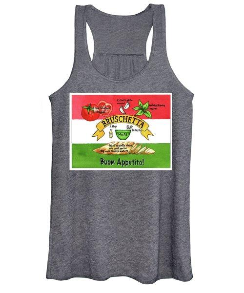 Recpe-bruschetta Women's Tank Top