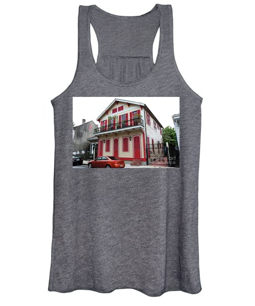 Red And Tan House Women's Tank Top