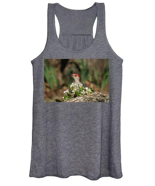 Red-bellied Woodpecker In Spring Women's Tank Top