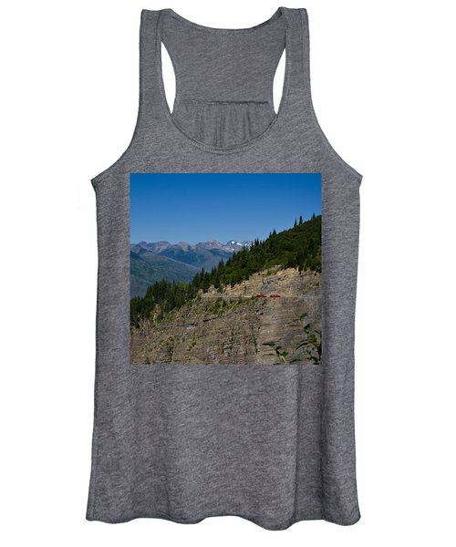 Red Buses, Glacier National Park Women's Tank Top