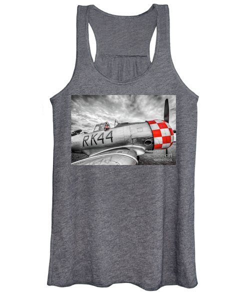 Red Checkers Women's Tank Top