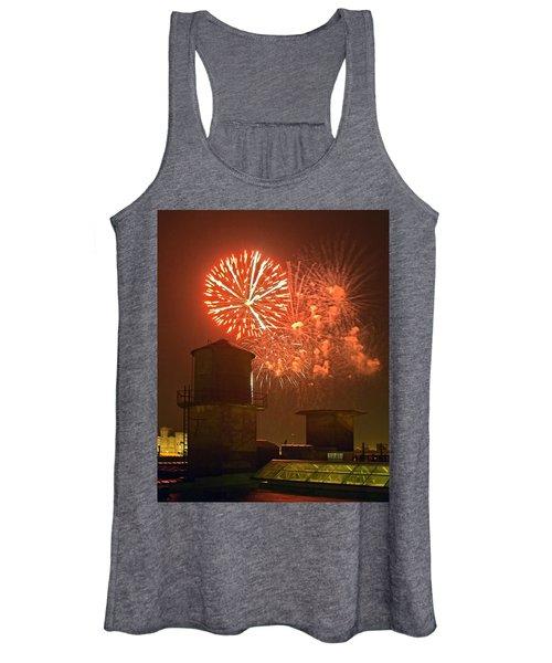 Red Fireworks Women's Tank Top
