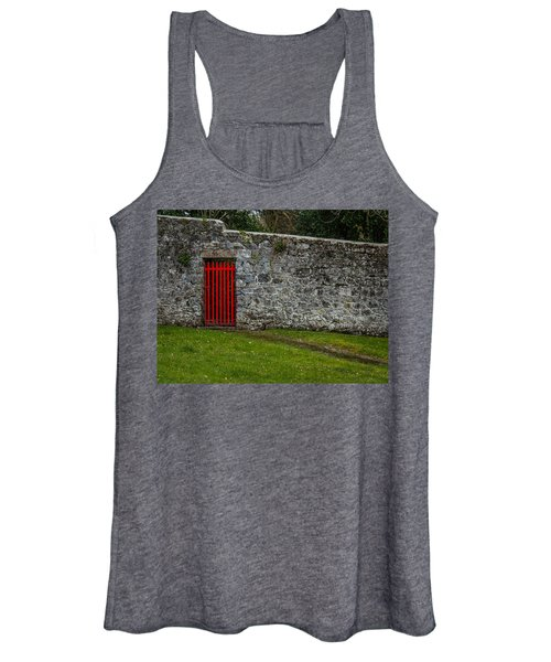 Women's Tank Top featuring the photograph Red Gate At Coole Park Estate by James Truett