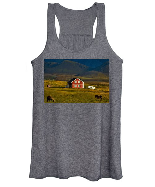 Red House And Horses - Iceland Women's Tank Top