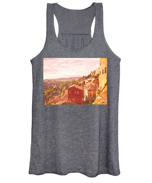 Red House On A Hill Women's Tank Top