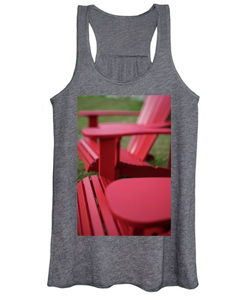 Red Lawn Chair Number 2 Women's Tank Top