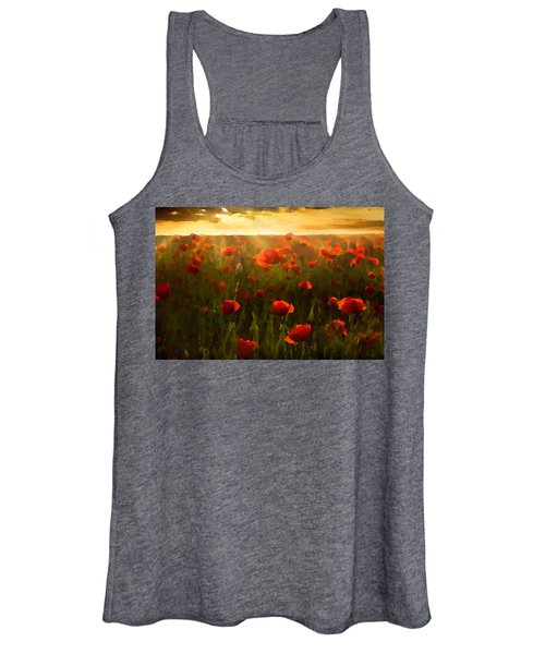 Red Poppies In The Sun Women's Tank Top
