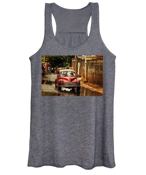 Red Retromobile. Morris Minor Women's Tank Top