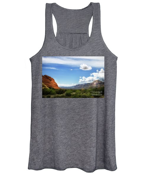 Red Rock Canyon Vintage Style Sweeping Vista Women's Tank Top