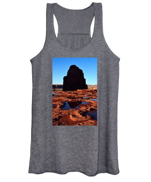 Red Rock Reflection At Sunset Women's Tank Top