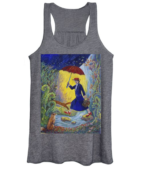 Red Shoes Mary Poppins Women's Tank Top