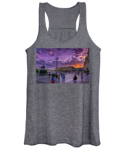 Red Square At Sunset Women's Tank Top