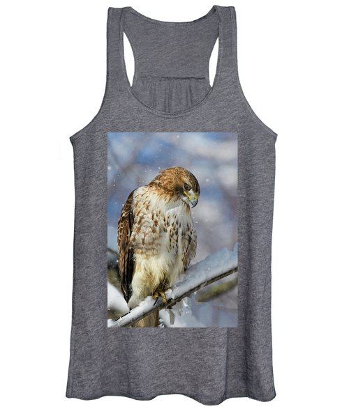 Red Tailed Hawk, Glamour Pose Women's Tank Top