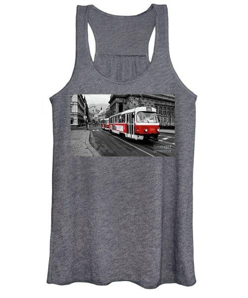 Prague - Red Tram Women's Tank Top