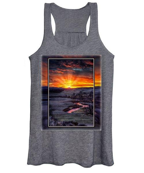 Redwater River Sunrise Women's Tank Top