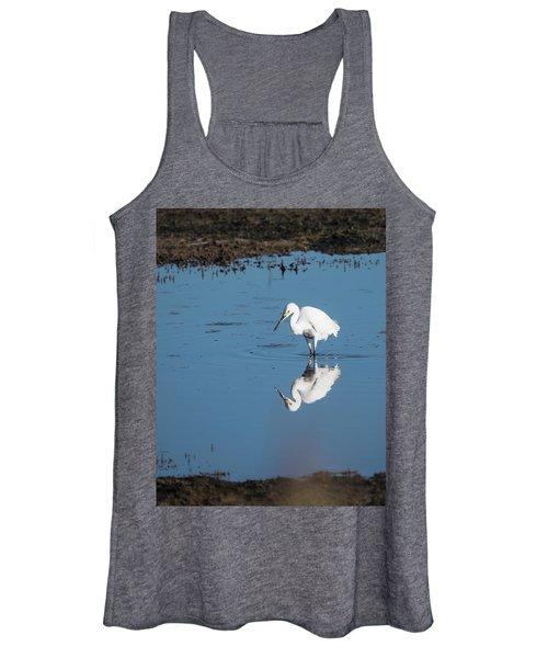 Reflections White Egret Women's Tank Top