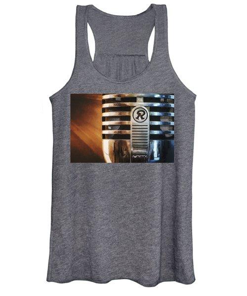 Retro Microphone Women's Tank Top