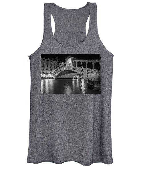 Rialto Bridge Black And White  Women's Tank Top