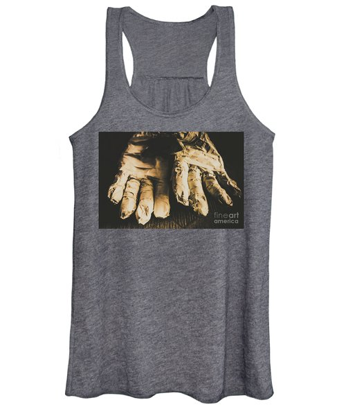Rising Mummy Hands In Bandage Women's Tank Top
