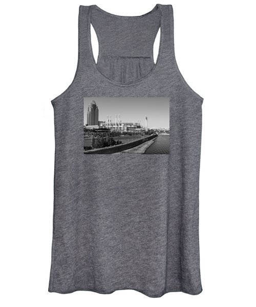 Riverfront Stadium Black And White  Women's Tank Top