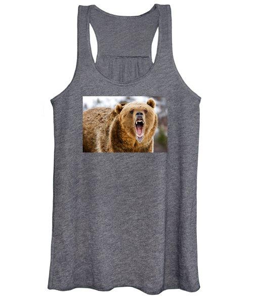 Roaring Grizzly Bear Women's Tank Top