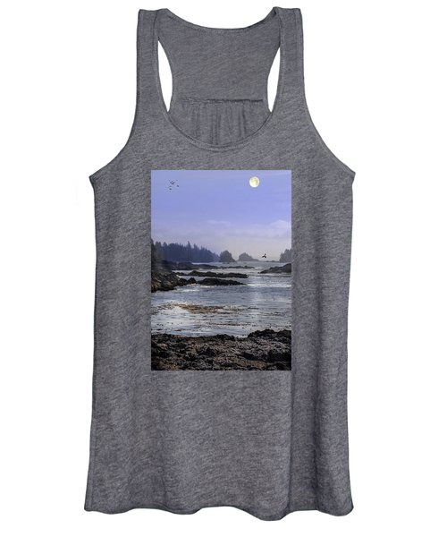 Rocks And Moon And Water Women's Tank Top