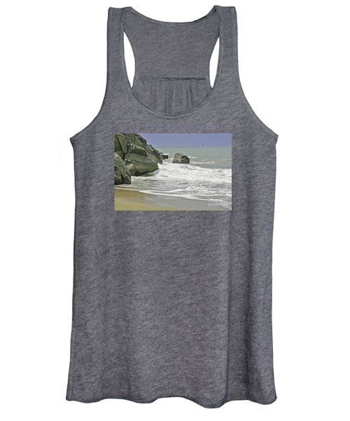 Rocks, Sand And Surf Women's Tank Top