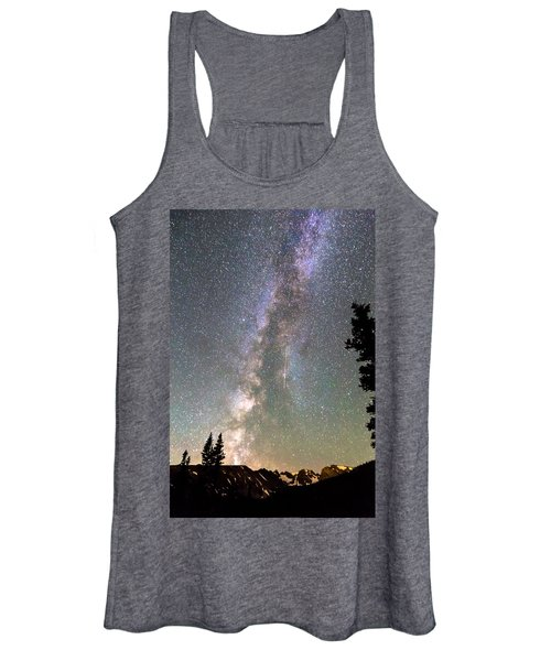 Rocky Mountain Milky Way And Falling Star Women's Tank Top