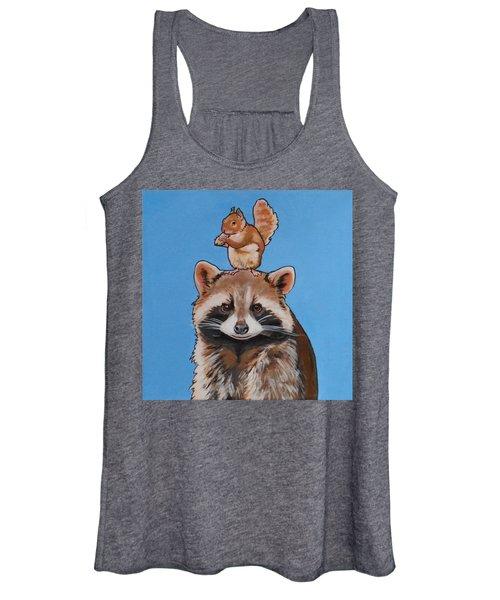 Rodney The Raccoon Women's Tank Top