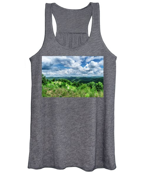 Rolling Hills And Puffy Clouds Women's Tank Top