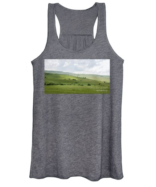 Women's Tank Top featuring the photograph Rolling Landscape, Romania by Perry Rodriguez