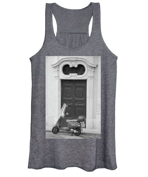 Roma Vespa And Door  Women's Tank Top