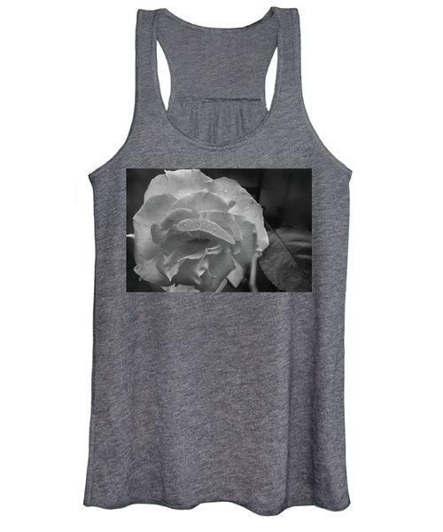 Rose In Black And White Women's Tank Top