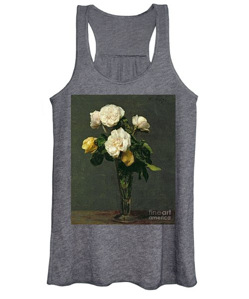 Roses In A Champagne Flute Women's Tank Top