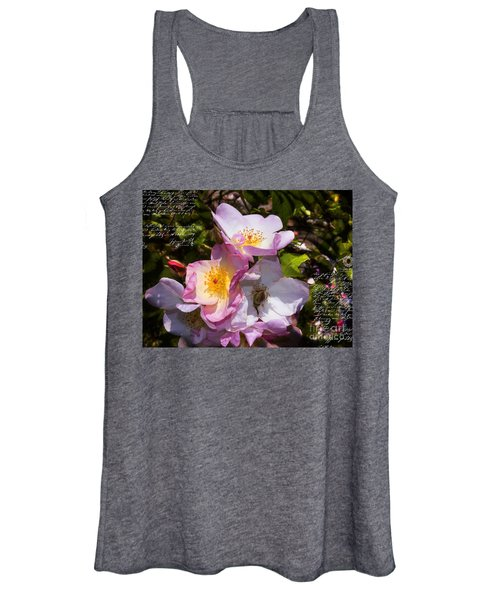 Roses Speak Of Love In The Language Of The Heart Women's Tank Top
