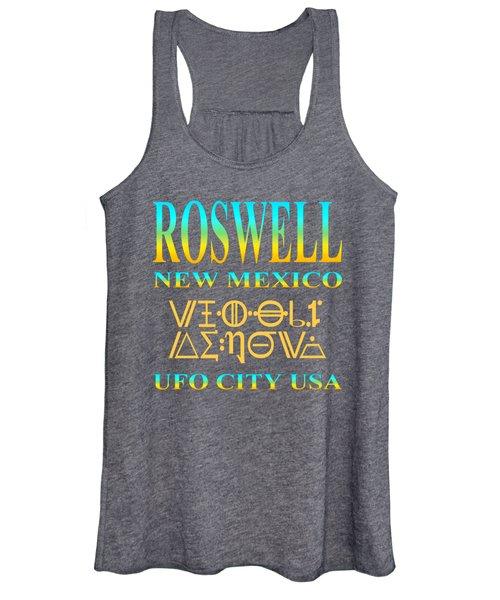 Roswell New Mexico Aliens Design - U. F. O. City U. S. A. Women's Tank Top