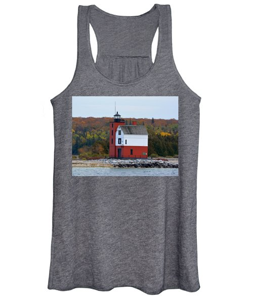 Round Island Lighthouse In October Women's Tank Top