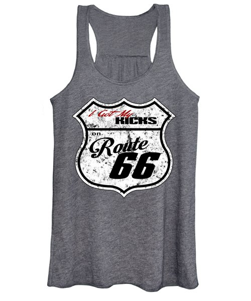 Route 66 Road Sign Women's Tank Top