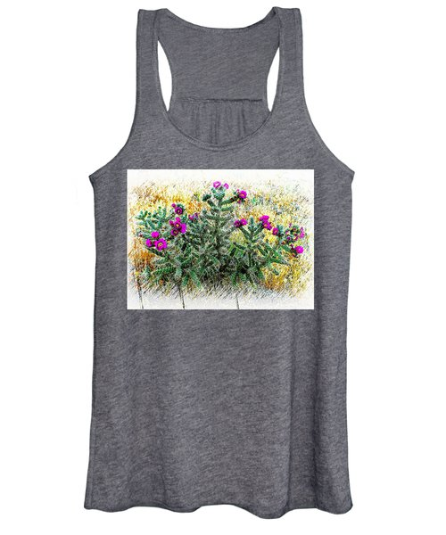 Royal Gorge Cactus With Flowers Women's Tank Top